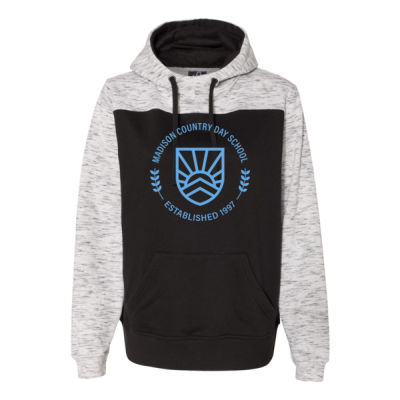 J. America - Men's Melange Colorblocked Hoodie - Screen Print Logo Thumbnail