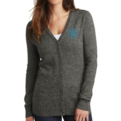 Port Authority - Women's Marled Cardigan - Embroidered Logo Thumbnail