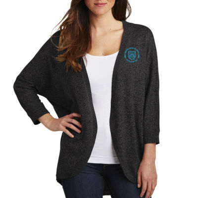 Port Authority - Women's Marled Cocoon Sweater - Embroidered Logo Thumbnail