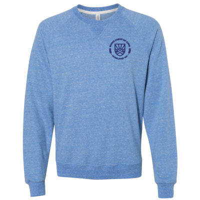 JERZEES - Snow Heather French Terry Crewneck Sweatshirt - Embroidered Logo Thumbnail