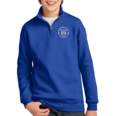Jerzees - Youth Cadet Collared Sweatshirt - Embroidered Logo Thumbnail